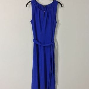Lands' End Dress Small  Belted Stretch Key Hole